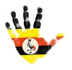 Uganda Flag Hand Print