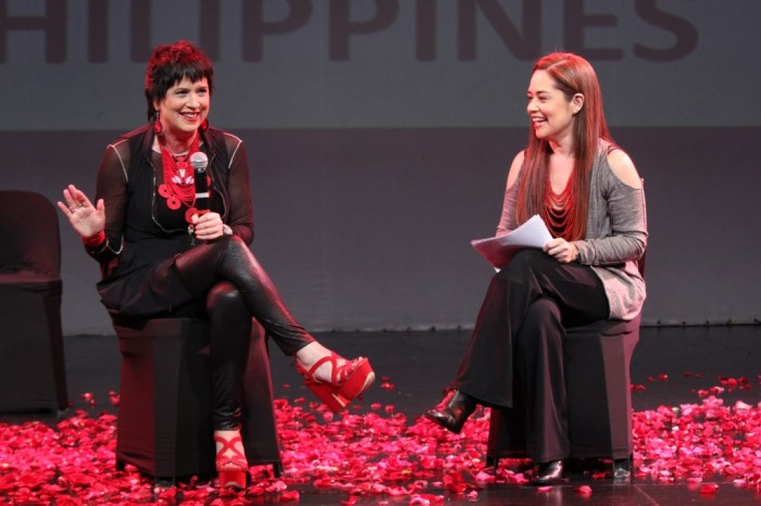 V-Day activists Eve Ensler and Monique Wilson for 1 Billion Rising 2.14.2014