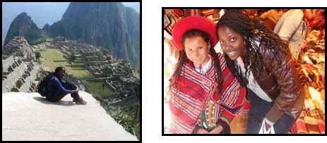Hannah in Peru as a Benjamin A. Gilman International Scholar.