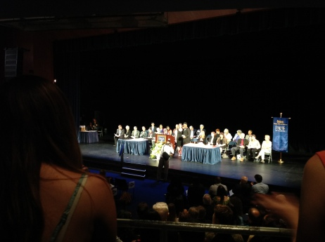 Davina accepting her academic and leadership award from Sarah Blackwood of the American Studies Department at Pace University