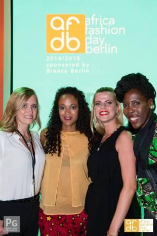 Photo by Peter Groth Sponsor Breeze Berlin Businesswoman Olga Metzger & Business woman Jenny Edner with Milka Fernandes at Erika Heß Eisstadion.