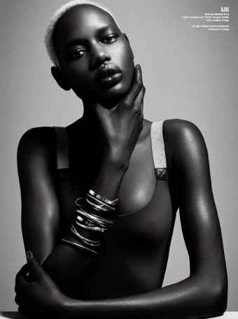 Number 1 of L'Abidjanaise' Top 20 African Fashion Models List, Angelique (Ajak) Deng of Sudan with IMG Models