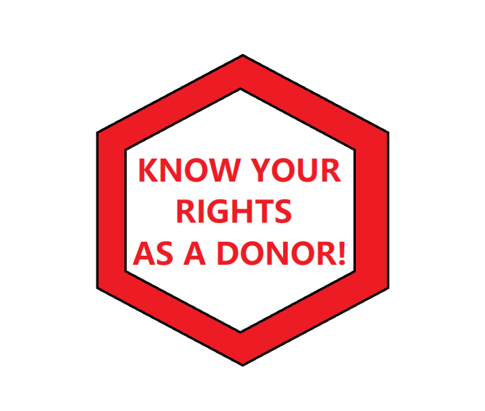 KNOW DONOR RIGHTS